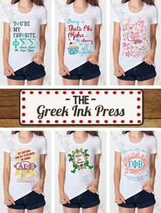 Sorority family shirts on pinterest big little reveal for American apparel sorority shirts