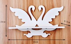 Swan wall-mounted shelf Vector dxf cdr for CNC vector file digital vector art cnc cnc file cnc pattern cnc cut laser cut Routeur Cnc, Cnc Wood, Cnc Plasma, Cnc Router, Scroll Saw Patterns Free, Wood Patterns, Wood Wall Shelf, Wall Mounted Shelves, Wood Projects
