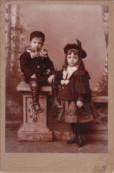 Little girl and boy,