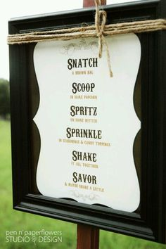 complete your Popcorn Party decor with this creative direction sign