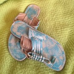 Sandals Very cute Bed stu turquoise sandals. Are you ready for summer?  Bed stu Shoes Sandals
