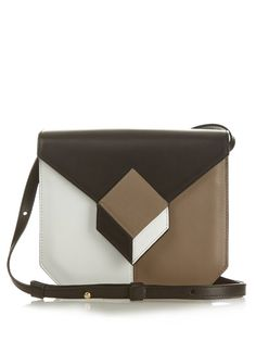 Pierre Hardy Prism cube-panel leather cross-body bag