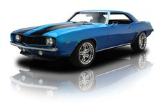 Lemans Blue 1969 Chevrolet Camaro Z/28 | RK Motors Charlotte | Collector and Classic Cars