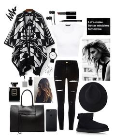 """""""-"""" by ecesamer ❤ liked on Polyvore featuring Rebecca Minkoff, UGG, Vans, NARS Cosmetics, Witchery, Givenchy and Nika"""