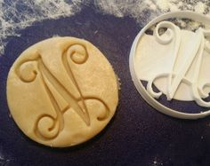 Custom Vine Monogram Single Letter Cookie Cutter personalized initials birthday wedding shower gift (7.99 USD) by BurgundyWorks