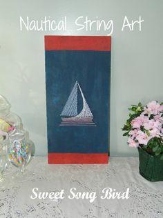 Nautical String Art DIY | Sweet Song Bird