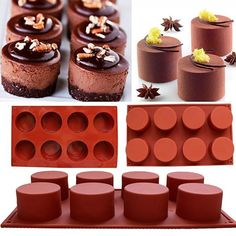8-Cavity Love Heart Shape Mousse  Biscuit Chocolate Mould Dessert Baking Tool