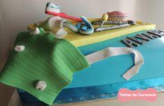 Tarta del dentista: detalle babero