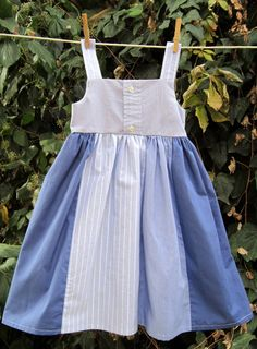 Daddy's Little Girl Dress---upcycled from mens dress shirts---size 3. $36.00, via Etsy.