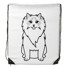Ragdoll Cat Cartoon Drawstring Backpack