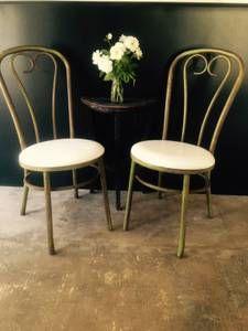 San diego for sale  bistro chairs    craigslistMetal Vanity Chair  Boudior Chair  Make up Chair  Vintage Chair  . Eames Chair Craigslist Los Angeles. Home Design Ideas