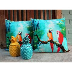 Nordic style Geometric parrot pillow for home decor animal ...