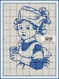 Cross Stitch Free chart クロスステッチフリーチャート: メンソレータムの看護士さん