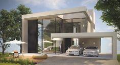 Casa em Condomínio Buena Vista AR04 3 Storey House Design, Bungalow House Design, House Front Design, Minimal House Design, Modern Villa Design, Contemporary House Plans, Modern House Plans, Dream House Exterior, Facade House