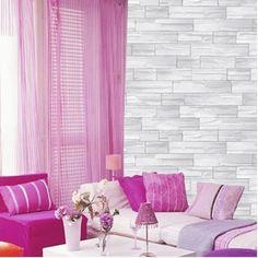 Grey Brick Effect Self Adhesive Wallpaper