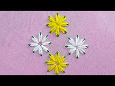Lazy Daisy Double Colour Thread Flower Stitch|Hand Embroidery - YouTube