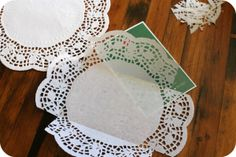 Envelopes Papel Doily by Persia Lou envelope de papel de festa