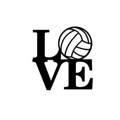 Volleyball Love Die Cut Vinyl Decal PV1005