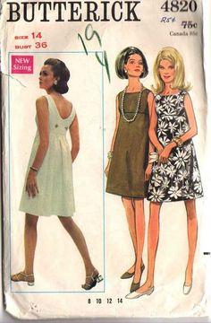 Butterick 4820, cute vintage pattern