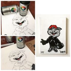 Character Illustrations :  Graffitti Artwork Canvas Poster