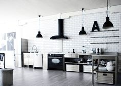 industrial style, great for a bachelor's loft ;)