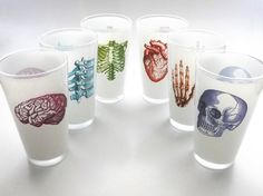 For the nights when med school or nursing school have got you overwhelmed and you just need a drink. These anatomy beerk glasses are the perfect accessory. 16 ounce pint, anatomical heart nurse medical student doctor gift, nursing, nurses, affiliate