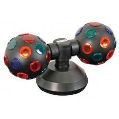 Bola de Discoteca Doble con Luces de Colores