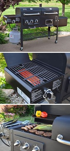 """For years I have been using both gas, and charcoal grills. I had no idea that a combo existed. This grill allows you not only choose from gas or charcoal, but also to sear and smoke your choice of food. I have used it 4 times so far, and could not be hap"