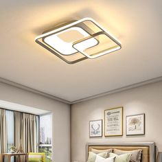 A sleek yet powerful piece of lighting, the Nanda LED Ceiling Light is a perfect decorative lighting accessory that not only provides bright light but also adds a contemporary vibe to your spaces. This ceiling light showcases a rare blend of impec. Round Ceiling Light, Led Ceiling Lights, Ceiling Design Living Room, Ceiling Ideas, Light Decorations, Contemporary, Lighting, Home Decor, Attic Ideas