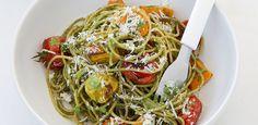 FREE Thermomix Recipe: 12WBT Basil & Walnut Pesto Spaghetti