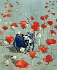 Lisbeth Zwerger poppies. The Wizard of Oz