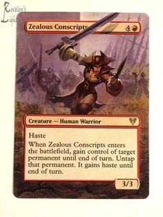 Zealous Conscripts - Extended MTG Alter - Revelen's Light Altered Art Magic Card #WizardsoftheCoast