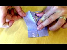 Origami Mini Dress tutorial - YouTube another tutorial on how to make the origami dress - easier to understand