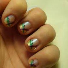 Mardi gras nail art check out www.MyNailPolishObsession.com for more nail art ideas.