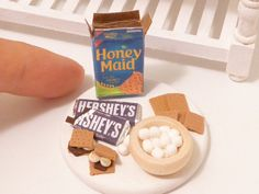 Miniature Dollhouse S'mores preparation board