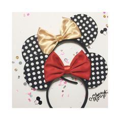 Polka Dot Mouse Ear by ShopHouseOfMouse on Etsy