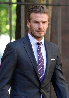 Setting trends...  David Beckham