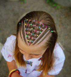 Trendy braids hairstyles cornrows little girls 60 ideas Easy Toddler Hairstyles, Childrens Hairstyles, Cute Hairstyles For Kids, Baby Girl Hairstyles, Kids Braided Hairstyles, Cornrows, Curly Hair Styles, Natural Hair Styles, Girl Hair Dos