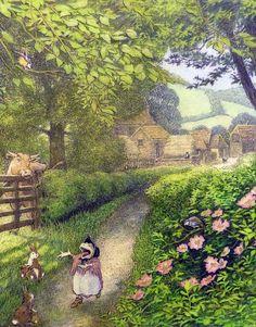 """Willows - """"The Secret Garden"""" by Frances Hodgson Burnett, illustrated By Inga Moore."""