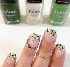 nail colors infused with botanicals for stronger, healthier nails & long lasting gel-like nail polish. St. Patricks Day, St Patricks Day Nails, Saint Patricks, Seasonal Nails, Holiday Nails, How To Do Nails, Fun Nails, Irish Nails, Fru Fru