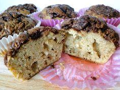 muffins sin azúcar de plátano y nutella - zoom