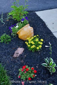 sideways planter for the garden