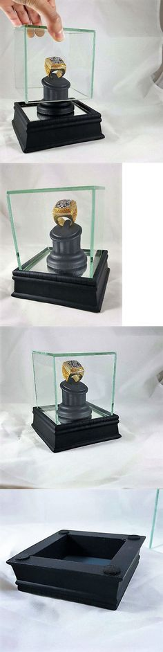 Other Fan Apparel and Souvenirs 465: Handcrafted Wood And Glass, Single Ring, Championship Ring Display Case -> BUY IT NOW ONLY: $64.95 on eBay!