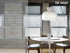 Unveiling the fascinating world of #Akemi by de Majo. #lighting #pendants #homedecor #homedecorating #homedecorideas #diningroom #glass #architecture #exclusivefurniture #ontrend #elegant #timeless #white #madeinitaly