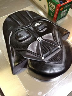 Darth Vader chocolate mud cake, Star Wars fan!
