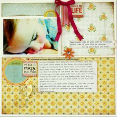 scrapbook page by Kim Jeffress. I love this one, so doing my own take on this very soon!