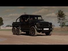 Kahn Flying Huntsman 6x6 Pickup : 2016 Geneva Motor Show - YouTube