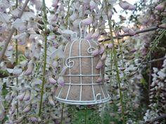 2 Wedding Bells, Bird Nesters, Garden Wedding Decor, Wedding Decor, Gift for the Bride, White Wedding, Wedding Decorations, Eco Wedding by FoxHillLlamas on Etsy https://www.etsy.com/au/listing/471273218/2-wedding-bells-bird-nesters-garden