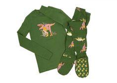 Big Feet PJs 2 Piece Footed Pajamas Jurassic Dinosaurs on Green Women's, Size: Pajamas For Teens, Best Pajamas, Bear Paw Print, Pajama Outfits, Thing 1, Pewter Grey, Bear Paws, Pj Pants, Long Sleeve Pyjamas