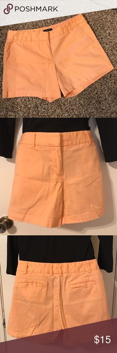 """Peach Chino Shorts Peach Light Orange Creamsicle Colored Chino Shorts  Size 8  Waist: approx 16.5"""" Rise: approx 8.25"""" Inseam: approx 4.75""""  Very good condition   💲💲Offers Welcome💲💲 ❌NO TRADES❌ Land'N Sea Shorts"""